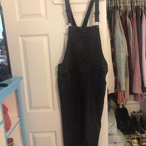 Black Overall Pants